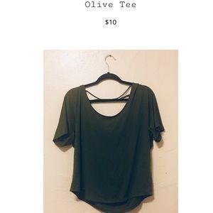Olive tee